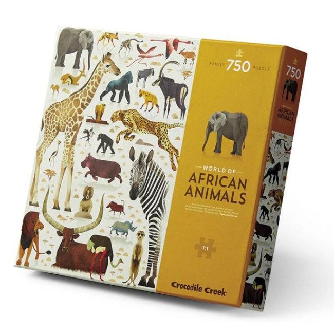Crocodile Creek Puzzel World Of African Animals 750 st.