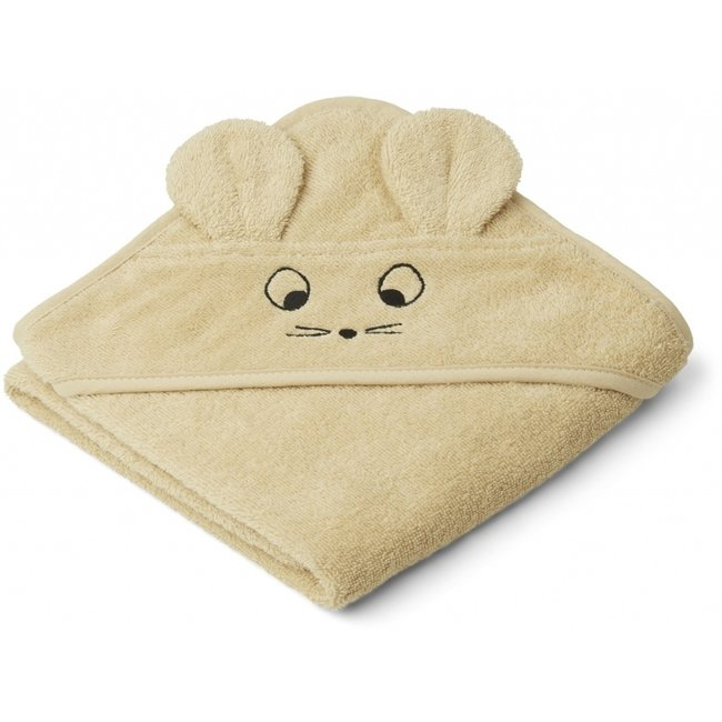 Liewood Hooded Baby Towel Albert Mouse Yellow