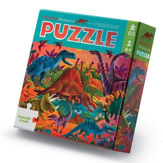 Crocodile Creek Puzzle Dazzling Dinos 60 tlg.