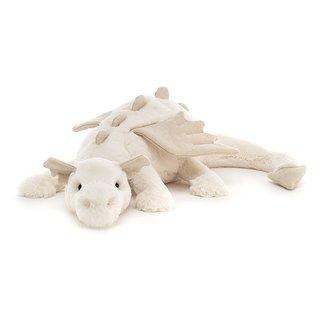 Jellycat Knuffel Snow Dragon Beige