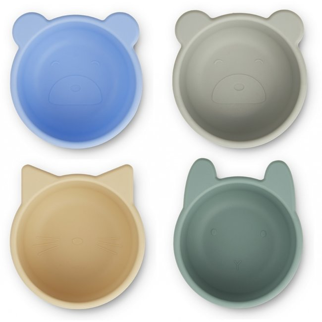 Liewood Silicone Bowls Malene Peppermint 4 Pack