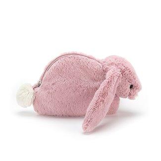 Jellycat Bashful Bunny Tulip Etui Roze 10 cm