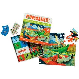 Crocodile Creek Memory & Puzzel Dinosaurus 48 st.