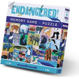 Crocodile Creek Memory & Puzzle Endangered 48 pc.