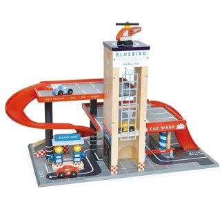 Tender Leaf Toys Wooden Garage with Workshop
