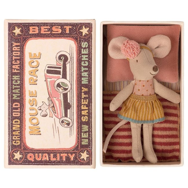 Maileg Mouse Little Sister With Hairband