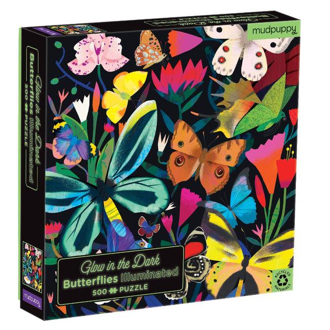 Mudpuppy Glow in the dark Puzzle Schmetterlinge 500-Teile
