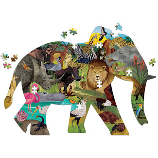 Mudpuppy Shaped Puzzle African Safari  300 Teile