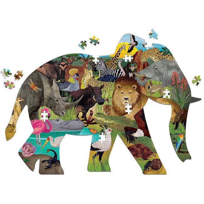 Mudpuppy Shaped puzzel african safari 300 stukjes