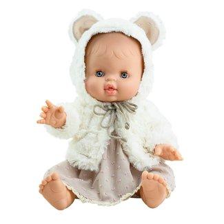 Paola Reina Puppe Gordi Elvi Mädchen Rosa Kleid
