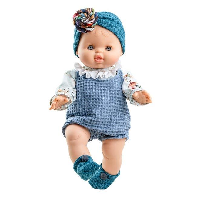 Paola Reina Puppe Gordi Blanca Mädchen Blau Anzug