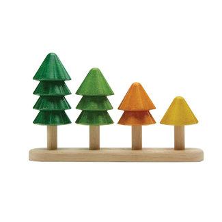 PlanToys Sortier und Zähl Bäumen Holz