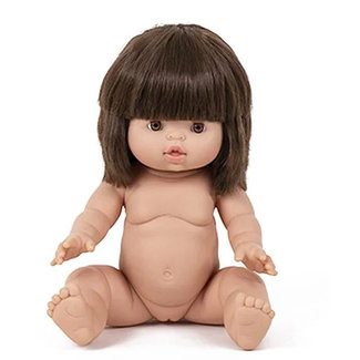 Minikane Puppe Jeanne Gordi Braune Haare