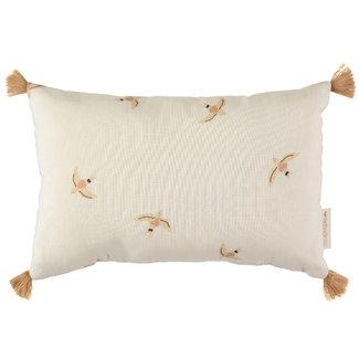 Nobodinoz Cushion Sublim Haiku Birds Natural