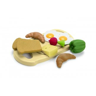 Dantoy Breakfast plate Green Garden Bioplastic