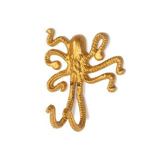 KidsDepot Wall Hook Octopus Gold Okki