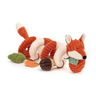 Jellycat Fox Spiral Activity Toy Cordy Roy Orange