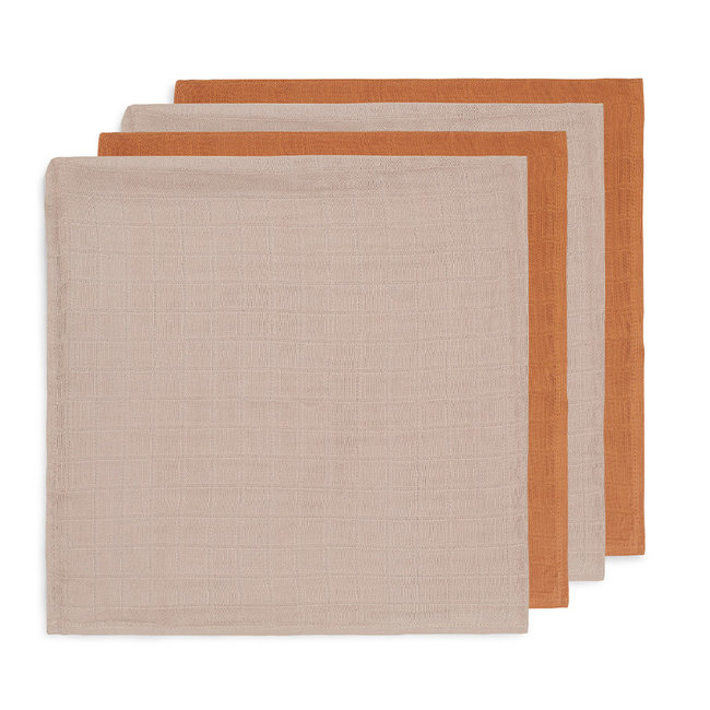 Jollein Bamboe Hydrofiele Doeken Caramel 70x70 cm