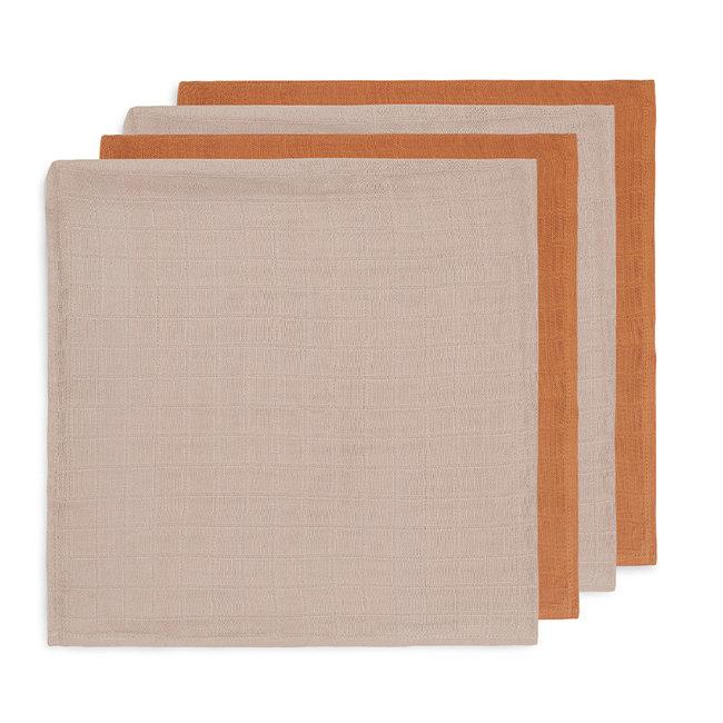 Jollein Bambus Mulltücher Karamell 70x70 cm