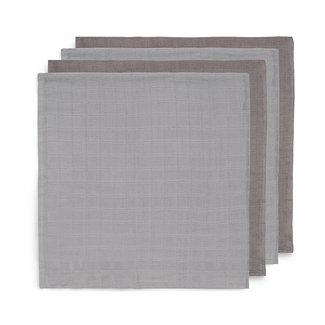 Jollein Bamboo Muslin Cloths Grey 70x70 cm