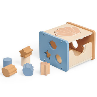 Jollein Steckspiel Holz Shell Blue