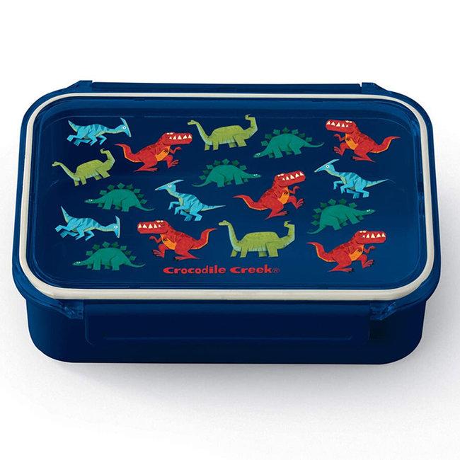 Crocodile Creek Lunchbox Dinosaurus Blauw