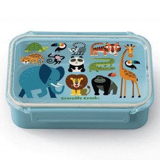 Crocodile Creek Lunchbox Jungle Friends Lichtblauw