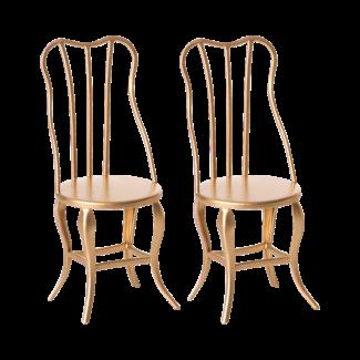 Maileg Stühle Vintage Gold Micro