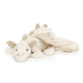 Jellycat Knuffel Snow Dragon Beige 66 cm Huge