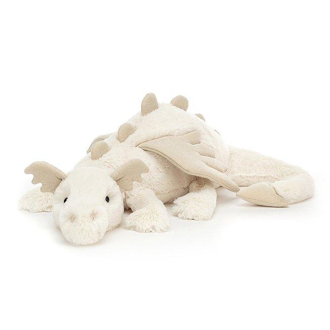 Jellycat Snow Dragon Beige Medium 66 cm Huge