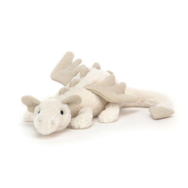 Jellycat Snow Dragon Beige Medium Little 26 cm