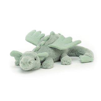 Jellycat Knuffel Draak Groen Little 26 cm