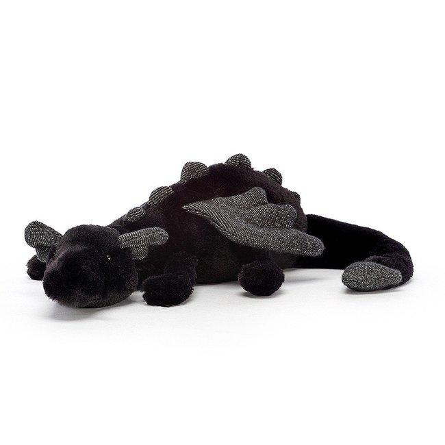 Jellycat Knuffel Draak Zwart Little 26 cm