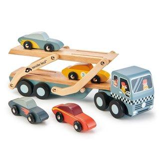 Tender Leaf Toys Lastwagen Mit Autos Holz