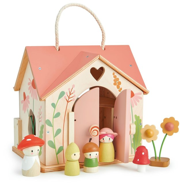 Tender Leaf Toys Puppenhaus Cottage Rosewood Holz