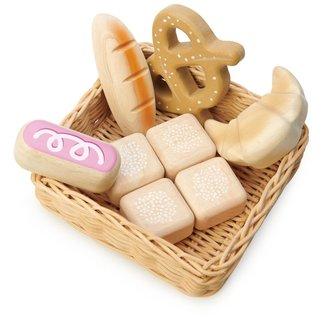 Tender Leaf Toys Wicker Basket Bread