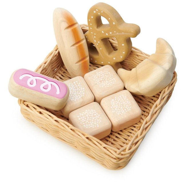 Tender Leaf Toys Weidenkorb mit Brot