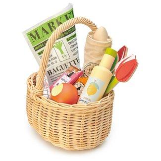 Tender Leaf Toys Wicker Shopping Basket