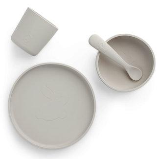 Jollein Tableware Set Silicone Nougat