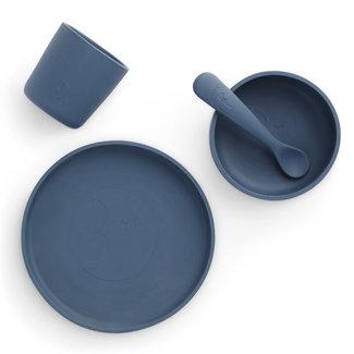 Jollein Tableware Set Silicone Jeans Blue