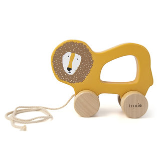 Trixie Baby Wooden Pull-allong Toy Lion