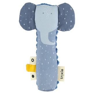 Trixie Baby Quietsch Rassel Elefant Blau