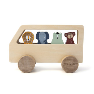 Trixie Baby Wooden Animal Bus