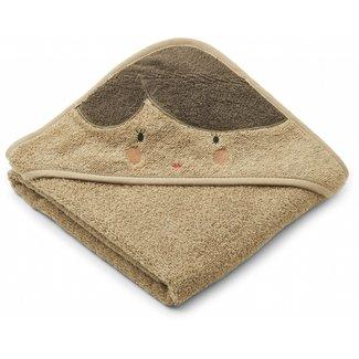 Liewood Hooded Baby Towel Albert Doll Oat
