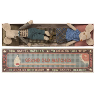 Maileg Grandpa & Grandma Mouse In Matchbox
