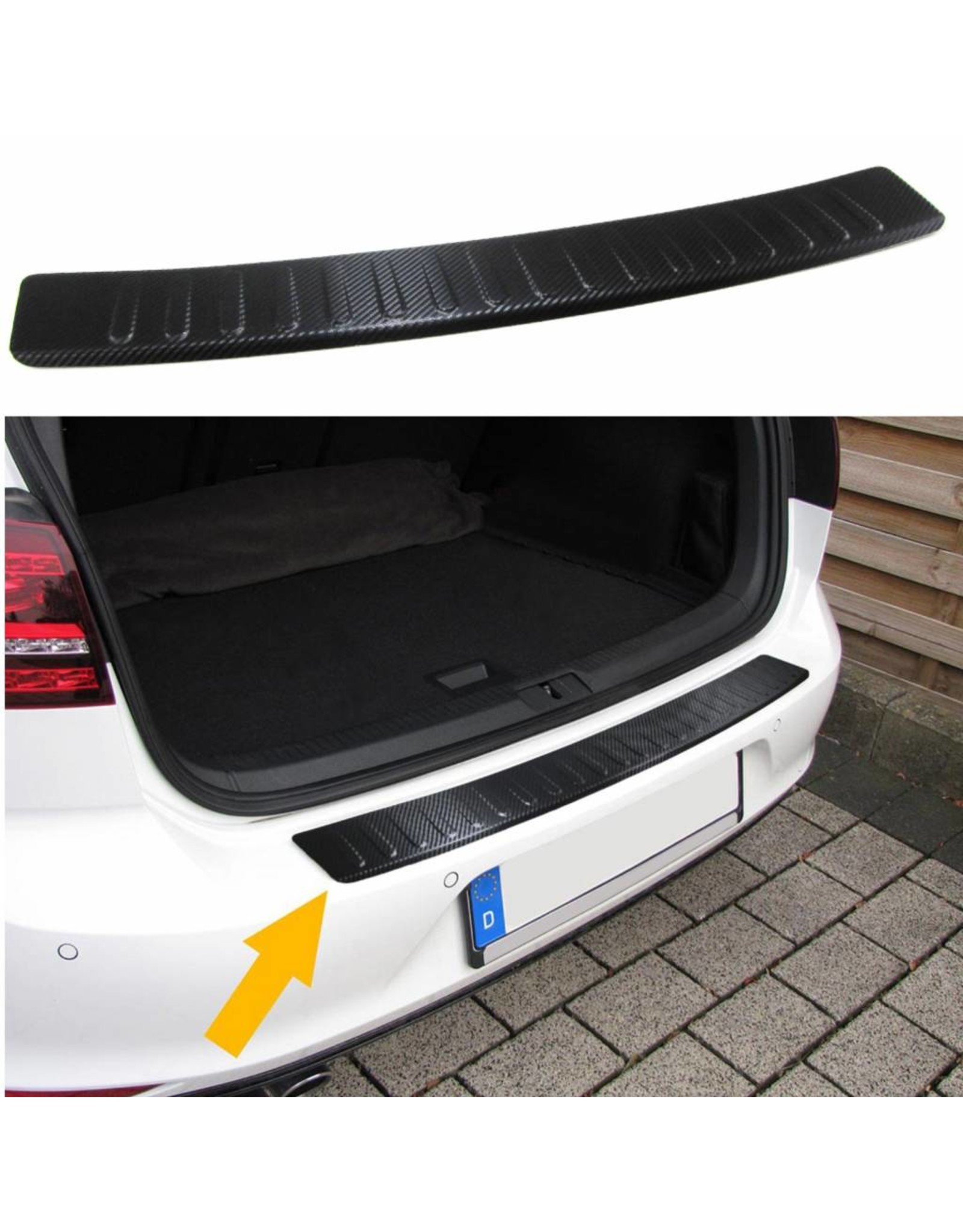 Mini R56 bumperbescherming RVS carbon