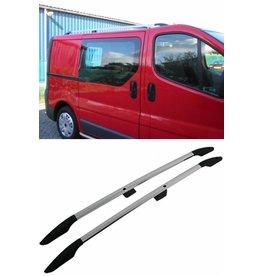 Dakrails aluminium voor Opel Vivaro, Renault Trafic korte wielbasis