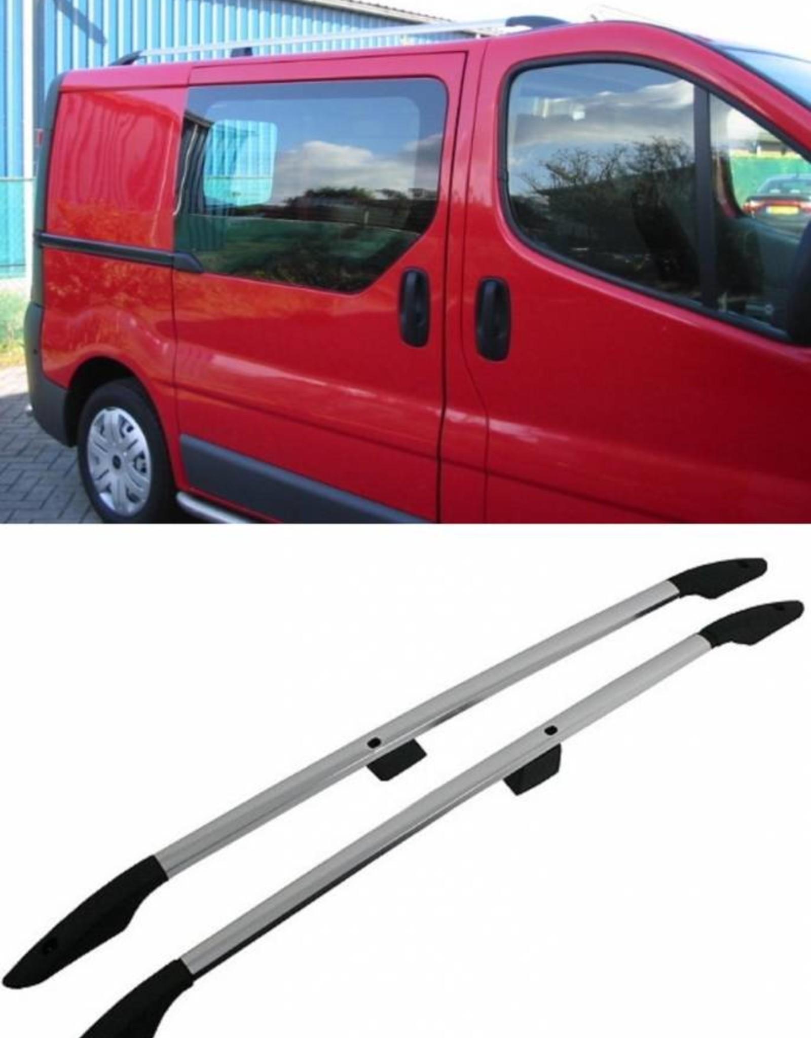 Dakrails aluminium voor Opel Vivaro, Renault Trafic lange wielbasis