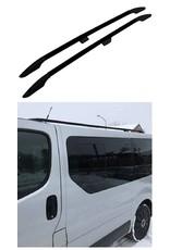 Dakrails zwart voor Opel Vivaro, Renault Trafic korte wielbasis