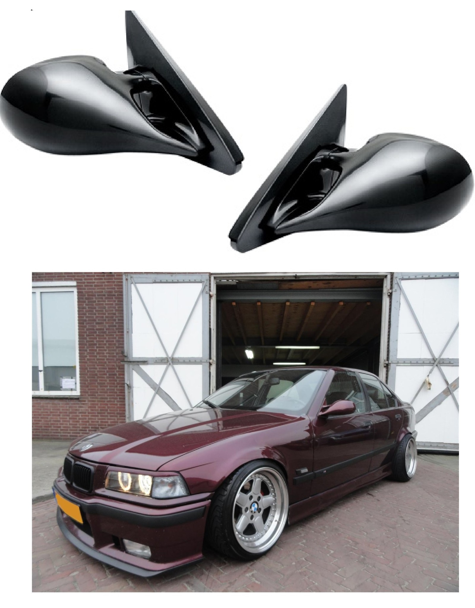 Elektrische sportspiegels voor BMW E36 sedan en touring